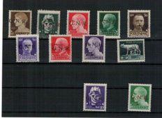 Italian Social Republic. 1944 – Stamps from the 'Imperiale' series with 'G.N.R.' overprint