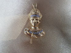 Yellow Gold Egyptian Charm of Ramses II (from a Set Collection)