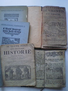 "Chapbooks; ""De Vrouwe-Peirle, ofte dryvoudige Historie"" and 4 other chapbooks - 1621 / 1903"