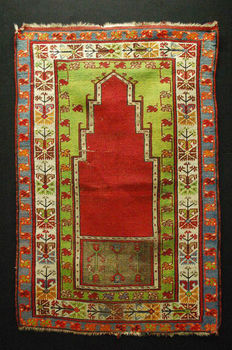 Antique prayer rug - Hand-knotted - Anatolia