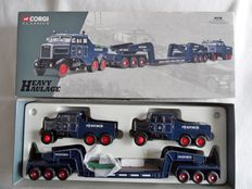 Corgi - Scale 1/50 - Pickfords 2 x Scammell Constuctors and 24 Wheel Low Loader Set
