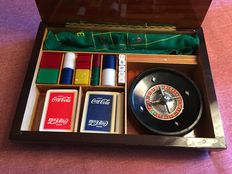 Rarity exclusive set rulete dal negro Italy collector game and playing card  60s - Coca Cola limited edition.