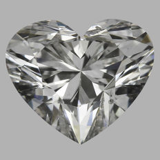 1.09 ct HEART Brilliant Diamond I SI1 IGI - SEALED serial#1561