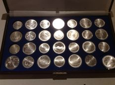 Canada – Boxed collection of commemorative coins from the 1976 Olympic Games – Silver