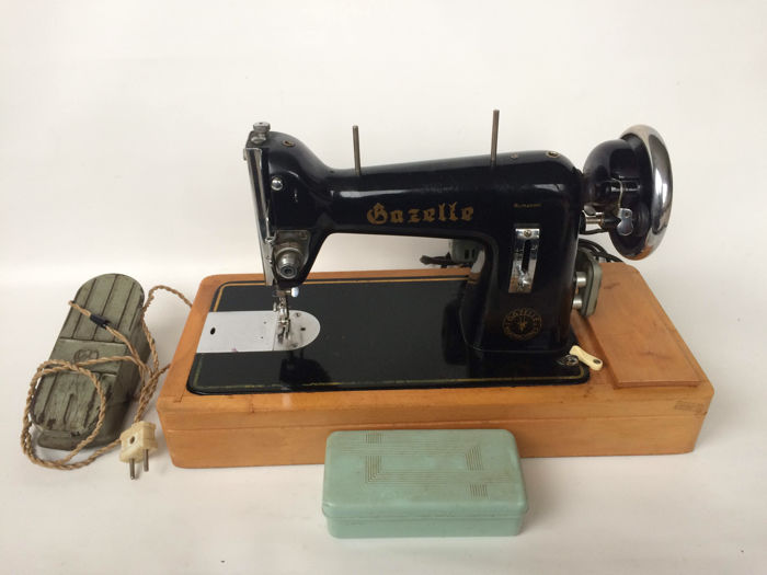 One Of The First Electric Sewing Machine Of Gazelle Catawiki Unique 1st Electric Sewing Machine