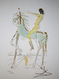 Salvador Dalí (after) - I have compared thee, o my love, to a company of horses...Suite Song of Songs of Solomon