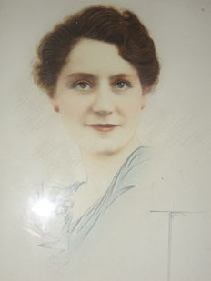 Unknown (20th century) - Old drawing of a lady