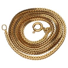18 kt yellow gold fox tail necklace – Length: 41 cm