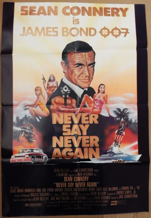 Never say never again 1988 - Sean Connery original US poster, single of the title song and a complete set of 25 original dutch filmstills.