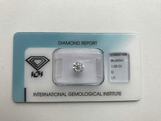 Diamond 1.00 ct Round diamond cut D, IF