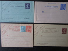 France 1800/1901 - Set of 28 postal stationary cards, pneumatic envelopes, pneumatic letter cards