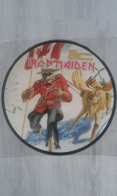 Lot of 3 x Iron Maiden - Iron Maiden  ‎– No Prayer For Mounty  (  Picture Disc ), Iron Maiden  ‎– Maiden Brazil ,  Limited Edition,   Red Colored  ,  Iron Maiden  ‎– Air Raid Siren  , Limited Edition,  Blue Colored