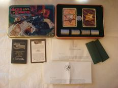 Aces and eights collector's playing card set issued by Franklin Mint (mid to late 70s).