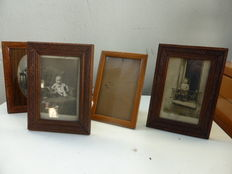 5 frames with black and white photographs circa 1940