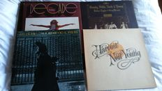 Neil Young & CSN&Y - nice lot of 3 original LP's and 1 triple LP set (including 2 rare and out of print coloured vinyls)