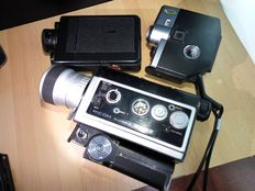 Collection 8 mm film cameras
