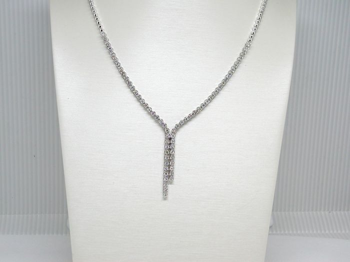 Riviera necklace set with diamonds – 7.00 ct in total