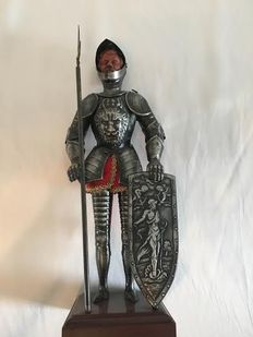 Antique knight figure with shield 1970