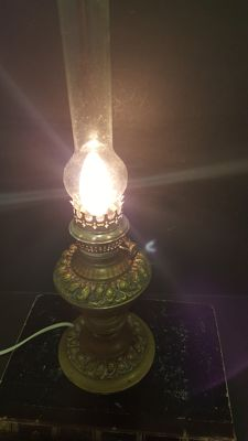 Ancient Lamp Oil Kosmos Brenner Bronze 1899 (Electrified)