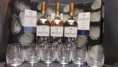 Macallan 12 New Year 2017 700ml Limited Edition Gift Set x 3 with 6 Glasses