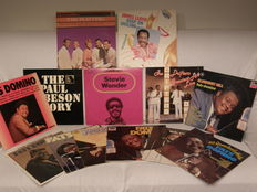 A lot of 13 albums ( 16 LP,s ) Stevie Wonder, Fats Domino, Paul Robeson, The Platters, James Lloyd, The Drifters
