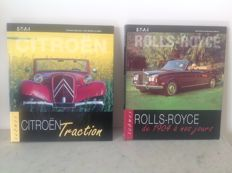 Lot of 3 books - Rolls-Royce - Citroen Traction (2 books) - Volkswagen Beetle