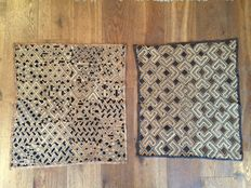 Lot of 2 traditional antique trade textiles - SHOOWA/KUBA - D.R. of Congo