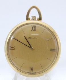 Zenith. Men's pocket watch in 18 kt gold. Lepine and Remontoir. Circa 1960.