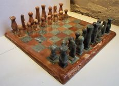 Onyx chess - Handmade by a craftsman