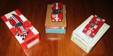 Starter / FDS / Tron - 1/43 Scale - Lot with 3 N.A.R.T. Le Mans Ferrari: Ferrari Dino 246 LM72, Ferrari 312P LM74  & Ferrari BB LM74