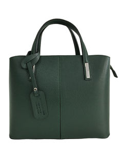 Leather shoulder bag, brand: Fiordiloto – Made in Italy (Florence)
