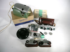Mikroma stereo camera, cutting device, close-up lenses and many accessories