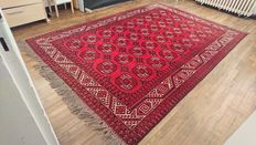 Wonderful Bukhara carpet from Afghanistan, handwoven - 288/200cm - PERFECT CONDITION!!! WITH VERY INTERESTING RESERVE PRICE!!!