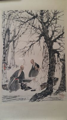 A painting made after famous artist Fu Baoshi - China - mid 20th century.