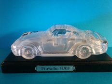 Hofbauer West Germany - crystal car - Porsche 959 - paperweight - 17 cm - collectible