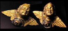 Two little angels- - gilt wood sculptures - Siena, Italy - second half 18th century