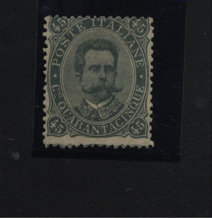 Italy Kingdom 1889 45 Cent Olive Green Sass N 46