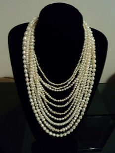 Baroque river pearl necklace