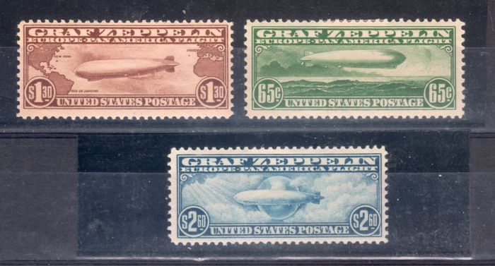 United States 1930 - Graf Zeppelin - A A13-A15