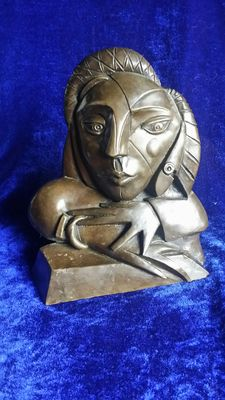 Unknown artist - bronze - inspired by Picasso