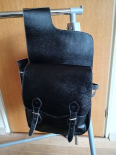 Saddle-leather saddle bags, approx 1980/90 of the last century.