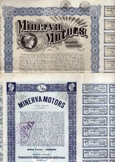 Belgium - Minerva Motors - 1929/1931 (Lot of 2)