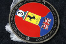 Ferrari - Ferrari 330P Goodwood 1965 Graham Hill - enamel badge