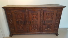 Fruit wood cabinet with star motif - Germany - ca. 1700