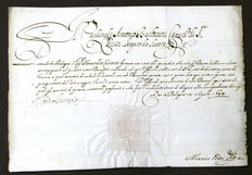 Autographed letter of protection by Italian Cardinal Antonio Barberini – 1644