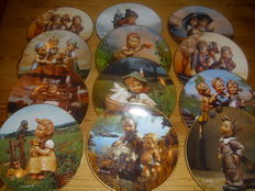 "M. J. Hummel - complete collection of 12 plates ""throughout the year"" as good as new"
