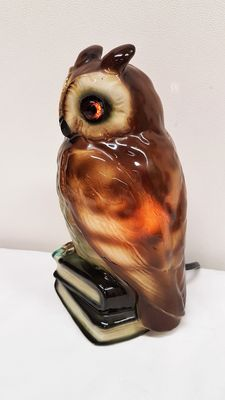 Porcelain lamp in the shape of an owl -Fragrance Diffuser