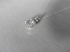 18k Gold Diamond-set Solitaire Pendant and Chain - 0.70ct / 0.33ct