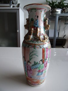Cantonese famille rose vase, China, ca. 1900