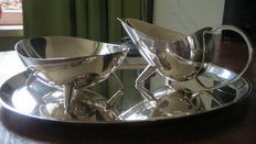 Cream set silver plated. Vintage.